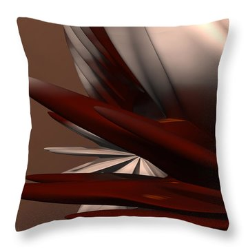 Petals And Stone 2 Throw Pillow