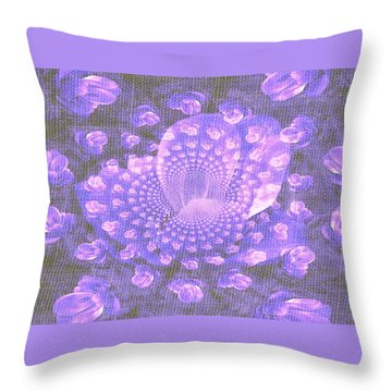 Petals Down The Rabbit Whole Throw Pillow