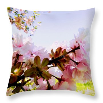Petals In The Wind Throw Pillow