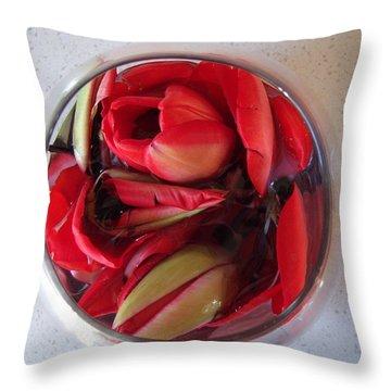 Petals In Vase  Throw Pillow