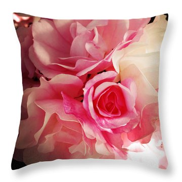 Petals Throw Pillow by Les Cunliffe