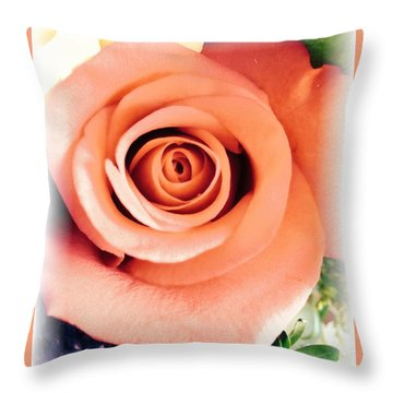 Petals Of Peach Throw Pillow