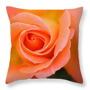 Petals Of Peach Throw Pillow