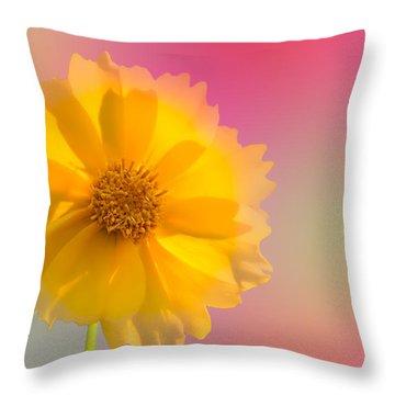 Petals Of Sunshine Throw Pillow