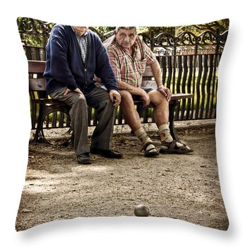 Petanque Match / Brive La Gaillarde Throw Pillow