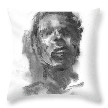 Throw Pillow featuring the drawing Pete by Paul Davenport