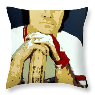 Pete Rose Poster Art Throw Pillow