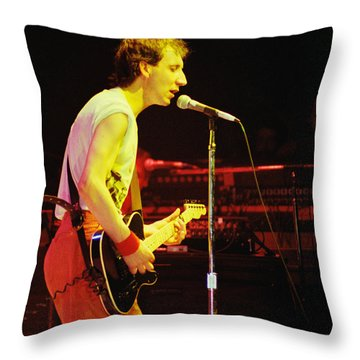 Pete Townsend Of The Who At Oakland Ca 1980 Throw Pillow