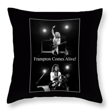 Peter Frampton Live Throw Pillow