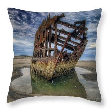 Peter Iredale At Dawn Throw Pillow