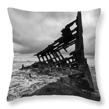 Peter Iredale Shipwreck Oregon 1 Throw Pillow