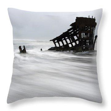 Peter Iredale Shipwreck Oregon 2 Throw Pillow