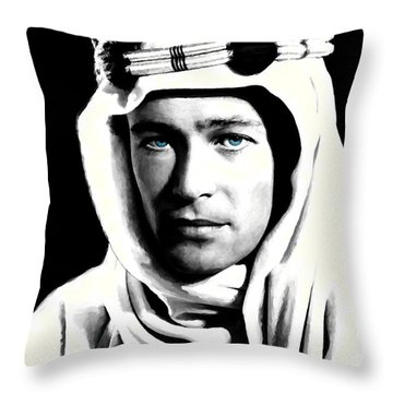 Peter O'toole Portrait Throw Pillow by Gabriel T Toro