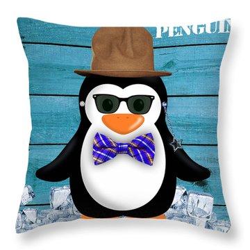 Peter Penguin Collection Throw Pillow