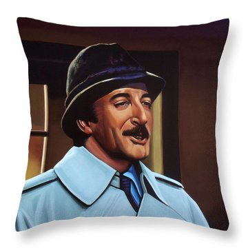 Peter Sellers As Inspector Clouseau  Throw Pillow