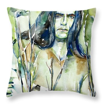 Peter Steele Portrait.1 Throw Pillow by Fabrizio Cassetta