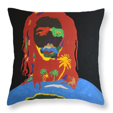 Peter Tosh Bush Doctor Throw Pillow by Stormm Bradshaw