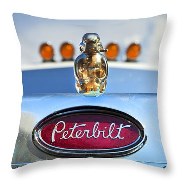 Peterbilt 2 Throw Pillow by Theresa Tahara
