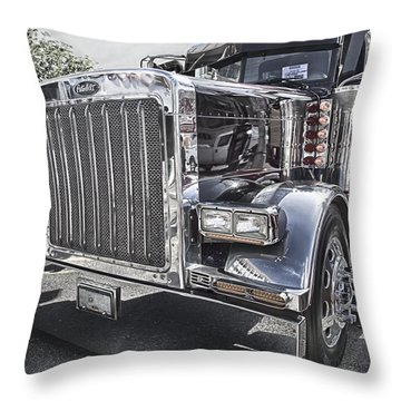 Peterbilt 2005 Throw Pillow by Theresa Tahara