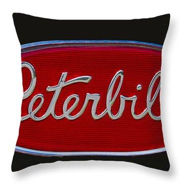 Peterbilt Semi Truck Emblem Throw Pillow