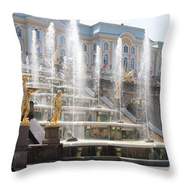Peterhof Palace Fountains Throw Pillow