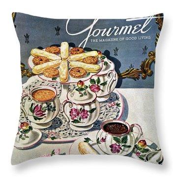 Petits Pots De Creme Throw Pillow