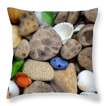 Petoskey Stones Lll Throw Pillow