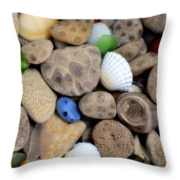 Petoskey Stones V Throw Pillow
