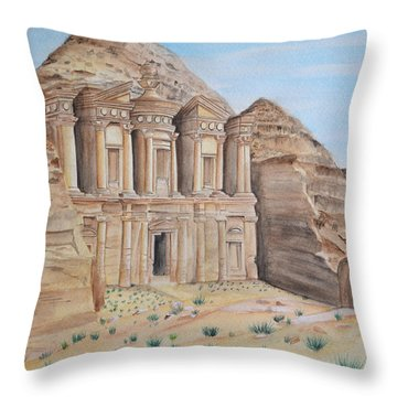 Petra Throw Pillow by Swati Singh