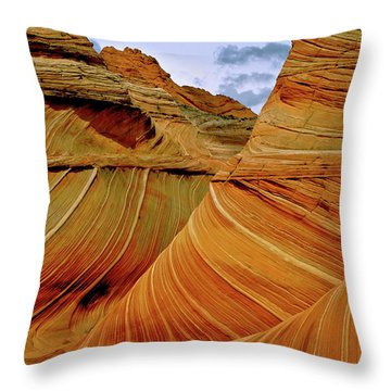 Petrified Sand Dunes The Wave Throw Pillow by Ed  Riche