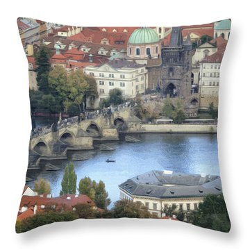 Petrin View Throw Pillow by Joan Carroll
