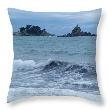 Petrovac - Katic Islands - Montenegro Throw Pillow