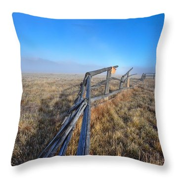 Throw Pillow featuring the photograph Pettit Fog by David Andersen