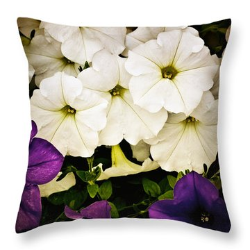 Petunias Throw Pillow by Susan Kinney