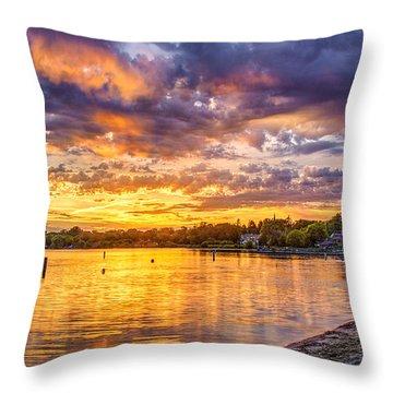 Pewaukee Orange Fury Throw Pillow