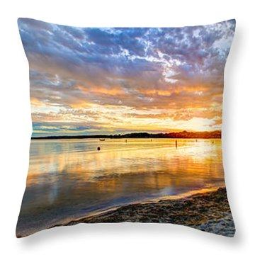 Pewaukee Vibrant Evening  Throw Pillow