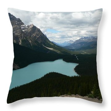 Peyote Lake In Banff Alberta Throw Pillow
