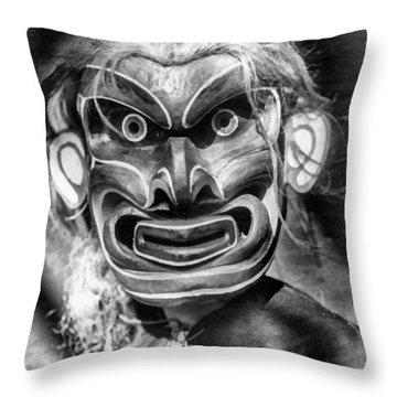 Pgwis Qagyuhl Indian Mask Throw Pillow