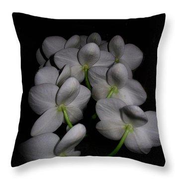 Phalaenopsis Backs Throw Pillow by Joyce Dickens