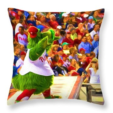 Phanatic In Action Throw Pillow
