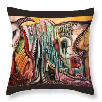 Phantasmagoria Throw Pillow by Michael Kulick