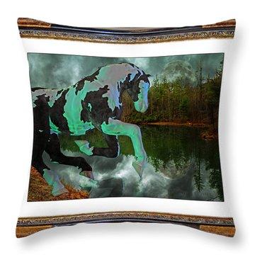 Phantom On The Lake Throw Pillow