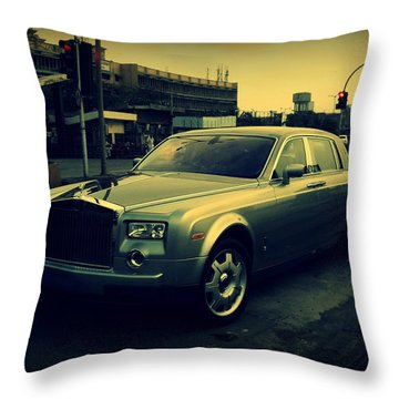 Rolls Royce Phantom Throw Pillow by Salman Ravish