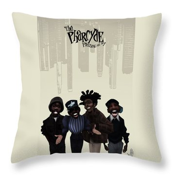 Pharcyde -passing Me By 1 Throw Pillow by Nelson dedos Garcia