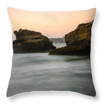 Phare De Biarritz Throw Pillow