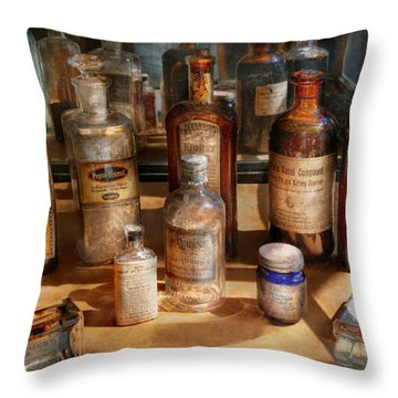 Pharmacist - Digestable Throw Pillow by Mike Savad