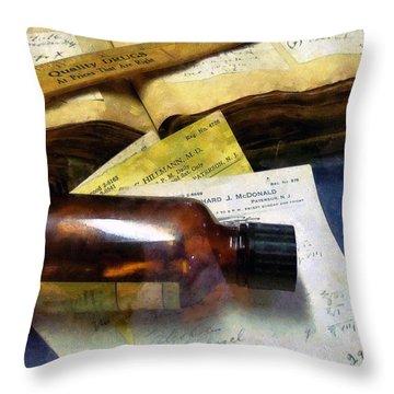 Pharmacist - Prescriptions And Medicine Bottles Throw Pillow