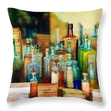 Pharmacist - Whatever Ails Ya - II Throw Pillow by Mike Savad
