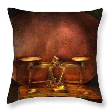 Pharmacy - Balancing Act  Throw Pillow by Mike Savad