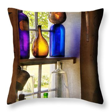 Pharmacy - Colorful Glassware  Throw Pillow